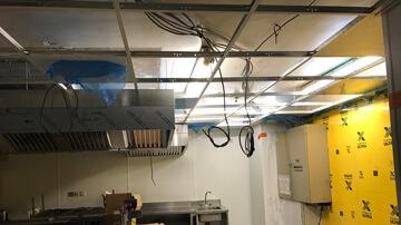 Vue sur la structure de faux-plafond