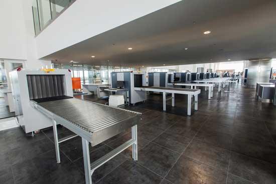 Rideau a laniere PVC aeroport