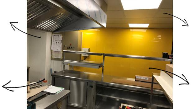Renovation d'une cuisine professionnelle