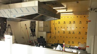 Renovation plafond cuisine professionnelle