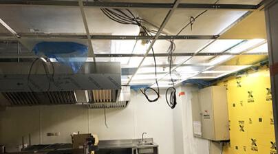 Structure plafond cuisine professionnelle