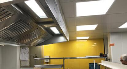 Plafond cuisine professionnelle renove