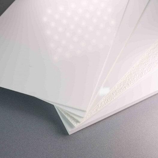 Plaque PVC blanche cuisine professionnelle