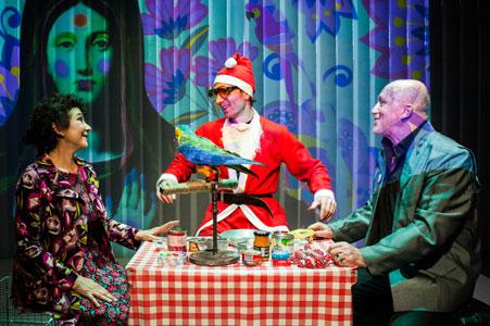 Rideau a lanieres PVC decor de spectacle theatre scenographie avec projection