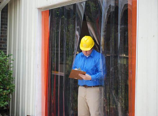 Rideau a lanieres PVC passage pieton