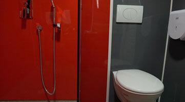 Plaque douche et WC