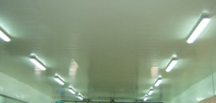 Revetement plafond en lambris PVC