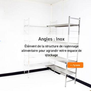 Angle  rayonnage alimentaire Inox