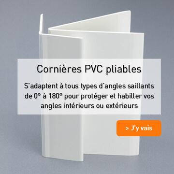 Cornières PVC pliables