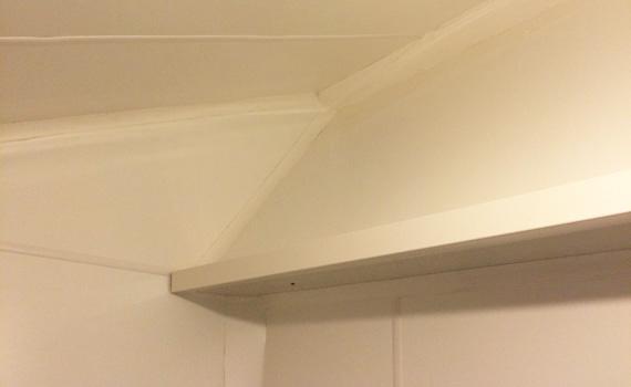 Murs tres irreguliers renoves plaque - lambris PVC
