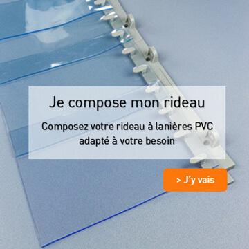 Rideau a lanieres PVC a composer