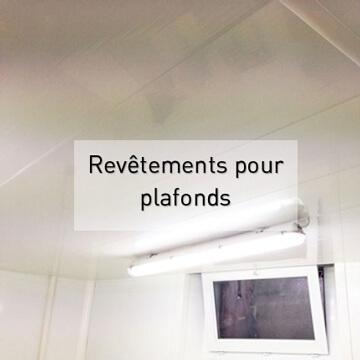 Revetements pour plafonds en PVC