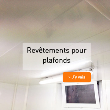 Revetements pour plafonds en PVC
