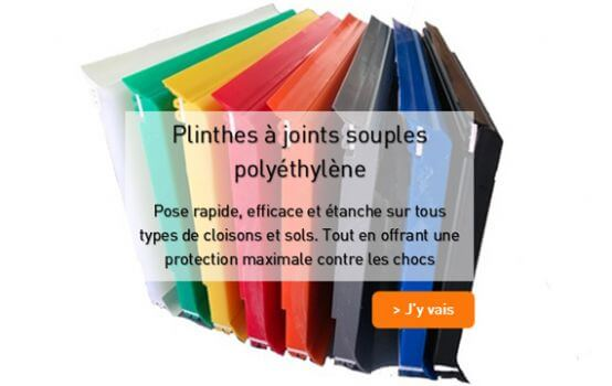 Plinthe Polyethylene a joints souple