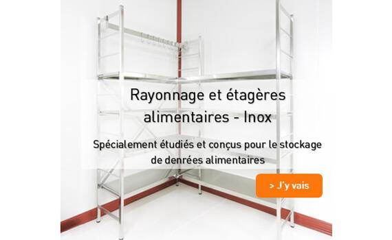 Rayonnage alimentaire 100% Inox