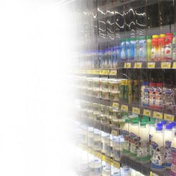 Rideau a lanieres PVC contact alimentaire