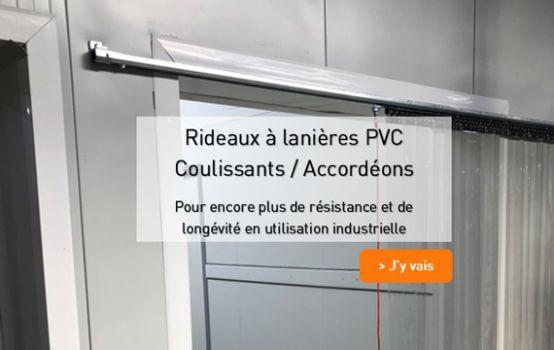 Rideaux a lanieres PVC coulissants