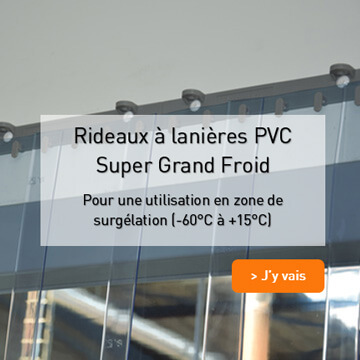 Illustration Rideau à lanières PVC souples Surgélation