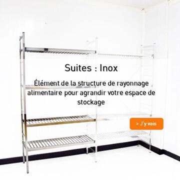 Suite rayonnage inox