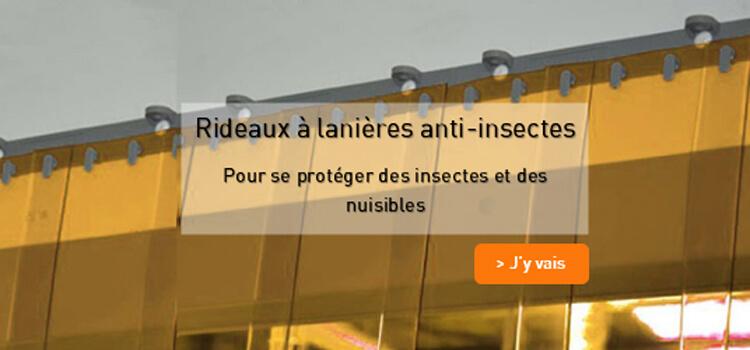 Rideau a lanieres PVC anti insectes