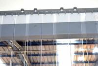Exemple de rideau à lanières recouvrement 100%