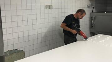 Mise aux normes d'un fournil de boulangerie en plaque PVC