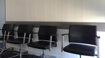 Protection des murs de salle d'attente
